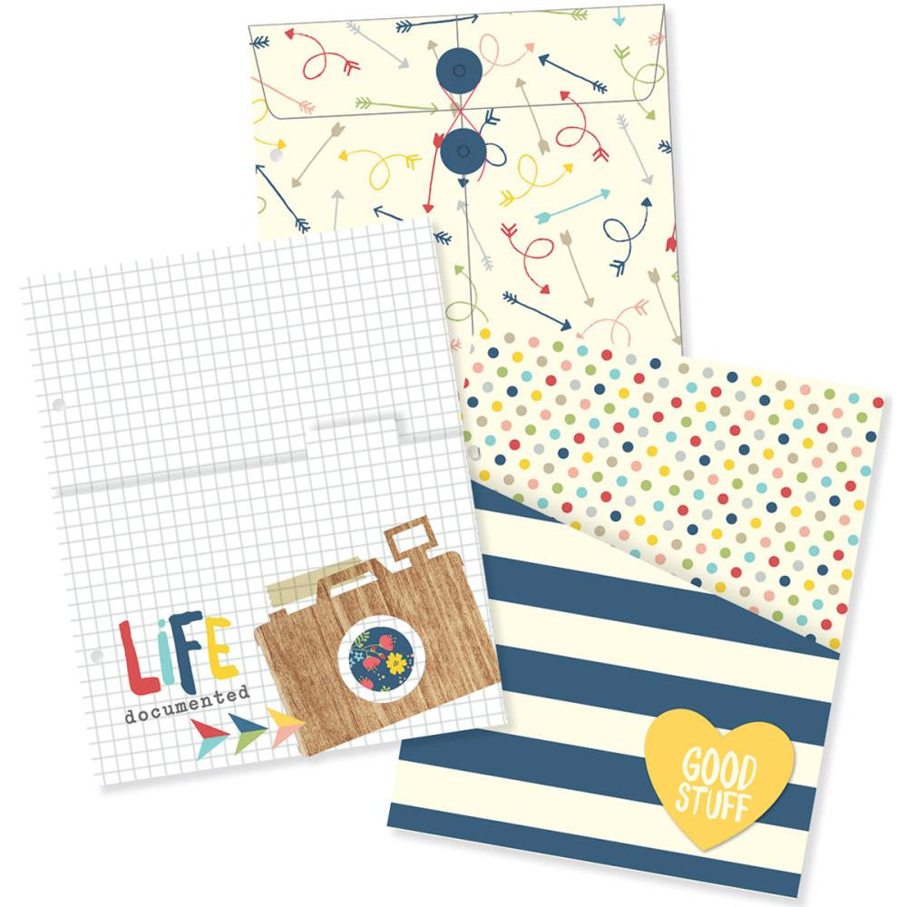 "Simple Stores SN@P! Life Documented Envelope and Pocket Inserts 6""X8"" - Scrap Of Your Life"