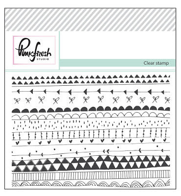 "Pinkfresh Studio Clear Stamp Doodle Background 3""X4"""