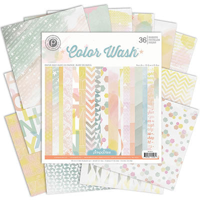 Pink Paislee Colour Wash 6 x 6 Paper Pad - Scrap Of Your Life