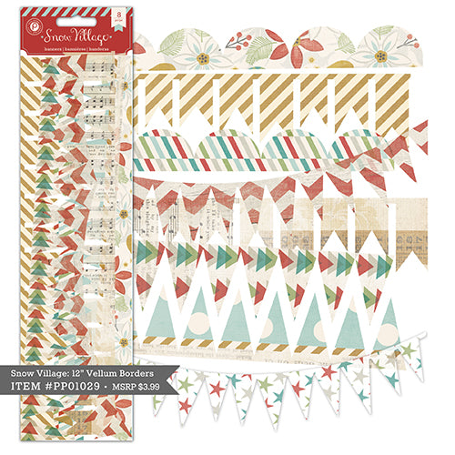 Pink Paislee Snow Village Velllum Borders/Banners - Scrap Of Your Life