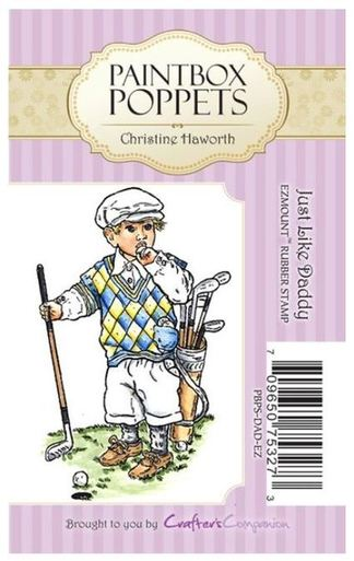 Crafters Companion Paintbox Poppets Unmounted Stamps - Just Like Daddy