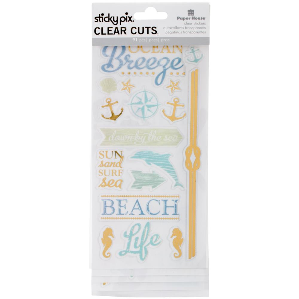 Paper House Sticky Pix Clear Cuts Stickers Beach - Scrap Of Your Life