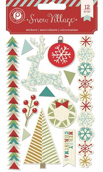 Pink Paislee Snow Village Stickers