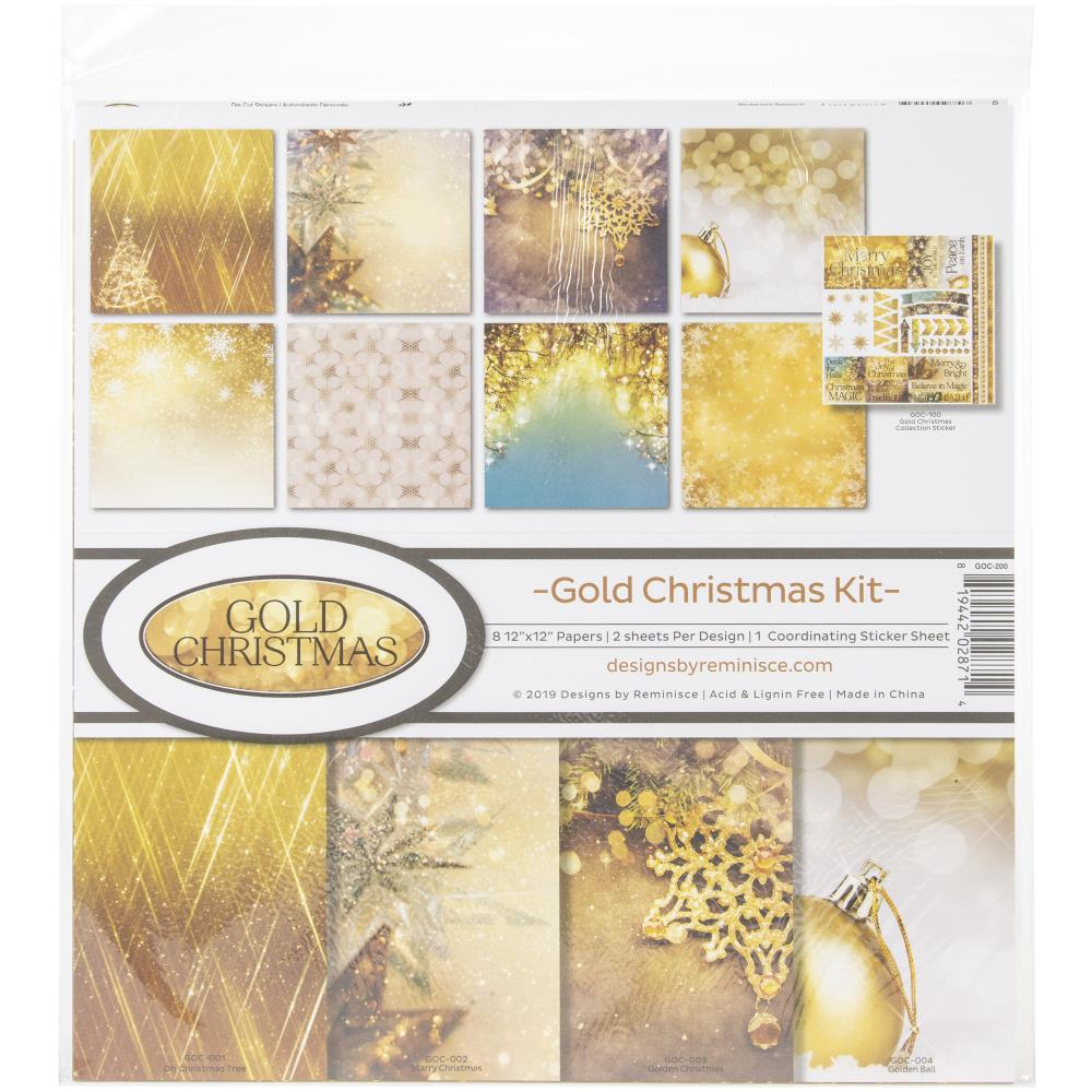 Reminisce Collection Kit - Gold Christmas - Scrap Of Your Life
