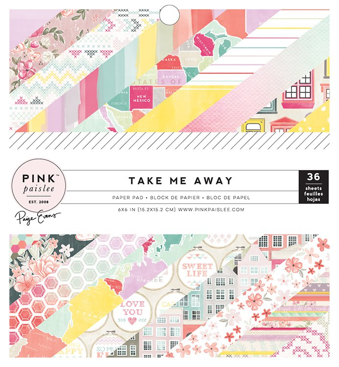 Pink Paislee Take Me Away 6 x 6 Paper Pad - Scrap Of Your Life