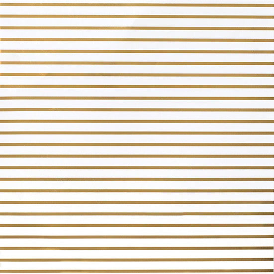 American Crafts DIY Shop 12 x 12 Thin Gold Foil Stripe on White Paper
