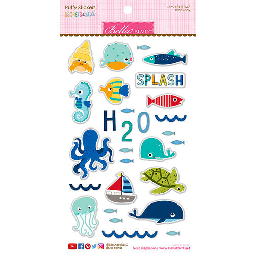Bella Blvd Secrets of the Sea Puffy Stickers Boy - Scrap Of Your Life