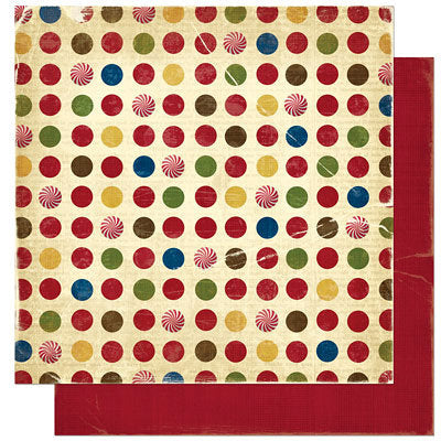 Bo Bunny Noel Collection 12 x 12 Double Sided Paper - Noel Dot - Scrap Of Your Life