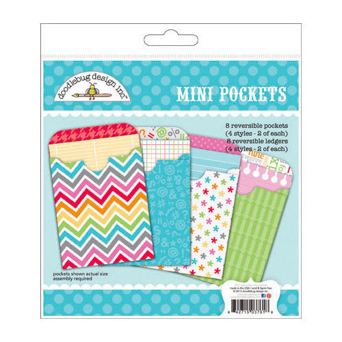 Doodlebug Design Take Note Collection Mini Pockets Craft Kits - Scrap Of Your Life