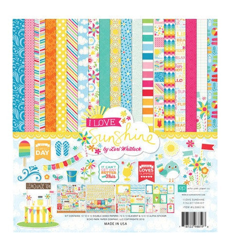 Echo Park 12 x 12 Collection Kit Sunshine - Scrap Of Your Life