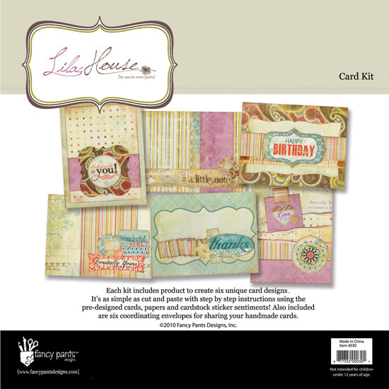 Fancy Pants Designs Card Kit - Lilac House - Scrap Of Your Life