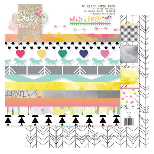 "Glitz Designs - Wild n Free Collection - 6"" x 6"" Paper Pad - Scrap Of Your Life"