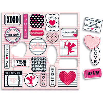 Teresa Collins - Crush Collection - Valentines - Die Cut Charms - Scrap Of Your Life