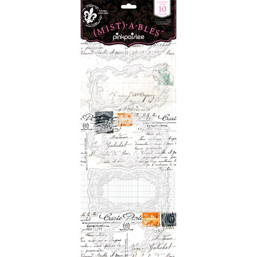Pink Paislee Mistables Journal Tags