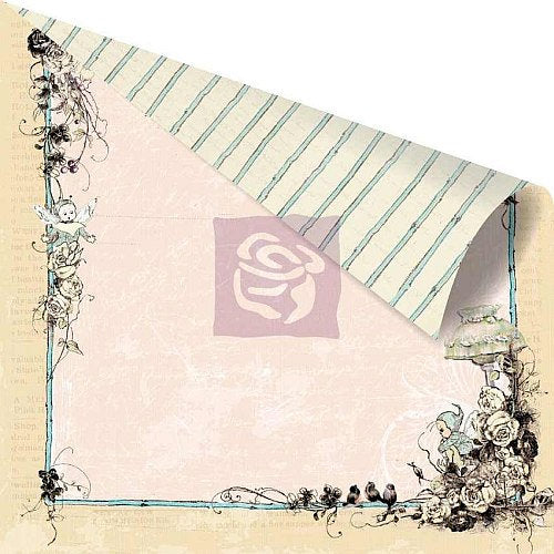 Prima - Pixie Glen Collection - 12 x 12 Double Sided Paper - Garden Gate. - Scrap Of Your Life