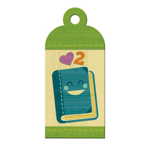 WRMK Embossed Tags how & Tell - Reading