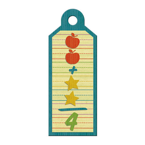 We R Memory Keepers Show & Tell Embossed Tags  Arithmetic - Scrap Of Your Life