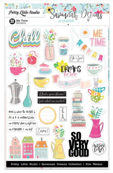 Pretty Little Studio Savannah Dreams Me Time Stickers - Scrap Of Your Life