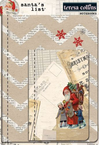Teresa Collins Santa's List - Notebooks - Scrap Of Your Life