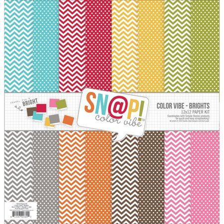 "Simple Stories SN@P Double-Sided Paper Pack 12""X12"" Brights"