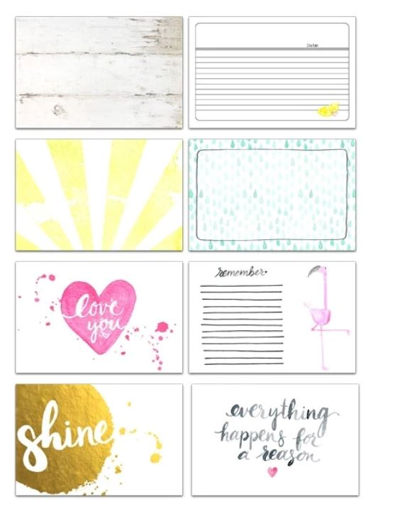 Pretty Little Studio Journaling Cards Shine  6 x 4