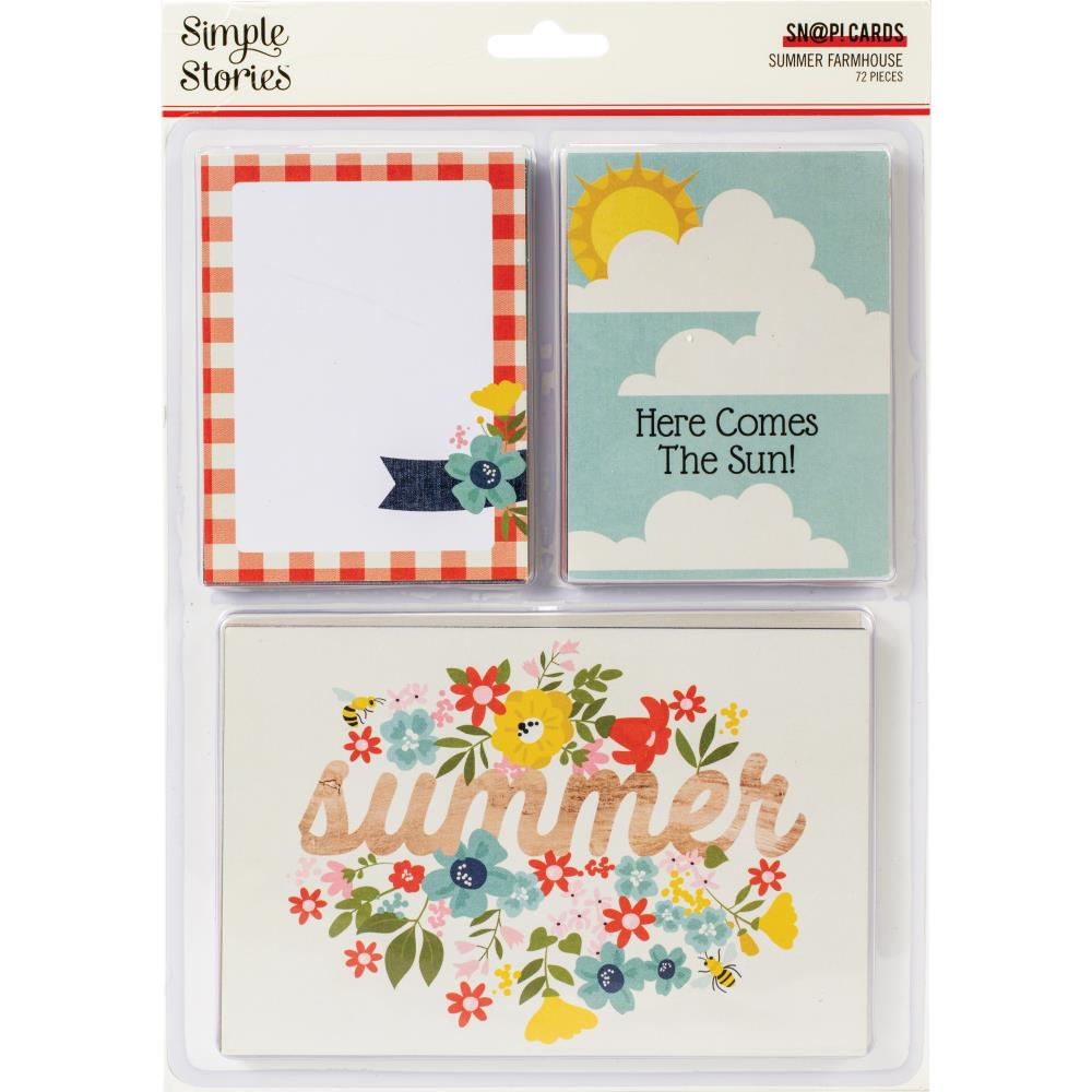 Simple Stories - Summer Farmhouse Collection - SN@P Card Pack - Scrap Of Your Life