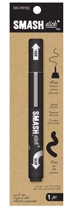 K and Company - SMASH Collection - Artsy Pen and Glue Stick Black - Scrap Of Your Life
