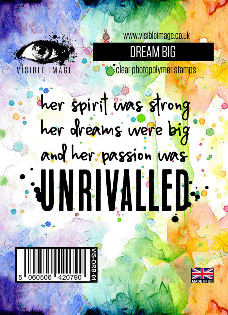 Visible Image Acrylic Stamp Dream Big. Really inspiring words… we all need to dream big!