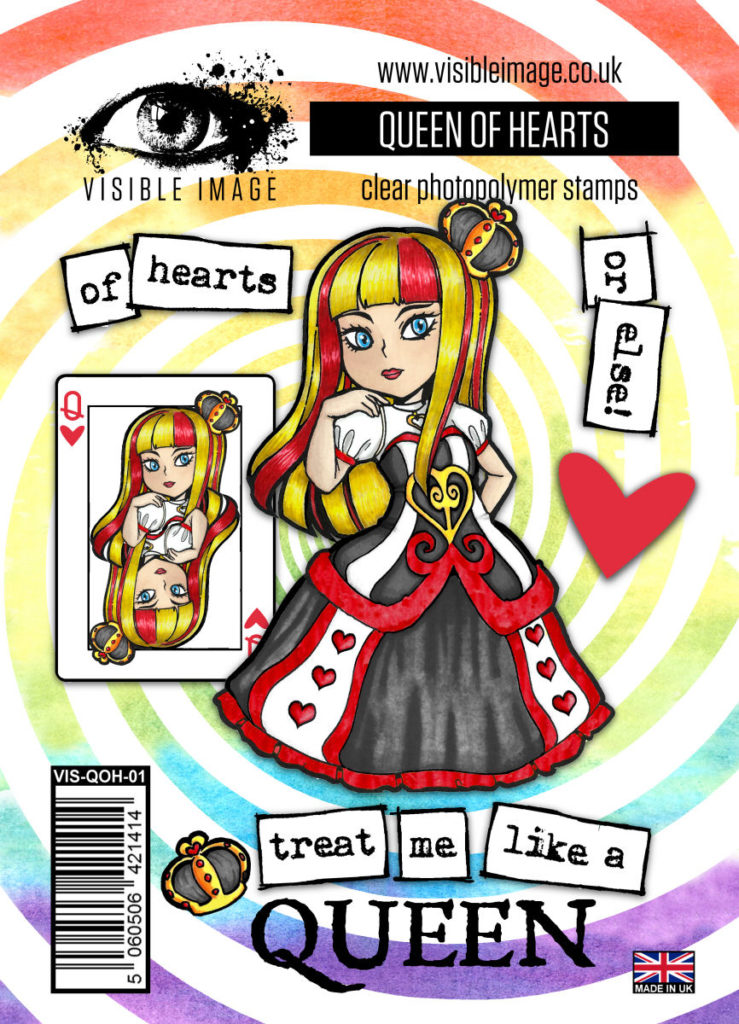 Visible Image Acrylic Stamp Wonderland Collection The Queen of Hearts