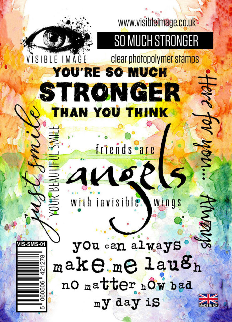 Visible Image Acrylic Stamp So Much Stronger. A fabulous set of inspiring and positive quote stamps that we all need in our lives, including 'you're so much stronger than you think'