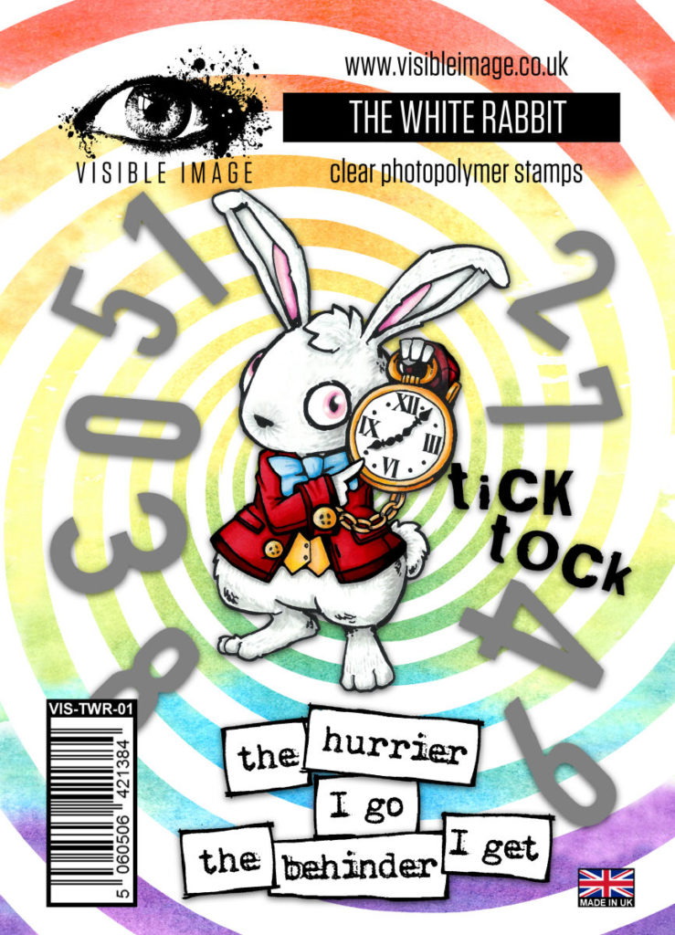 Visible Image Acrylic Stamp Wonderland Collection The White Rabbit - Scrap Of Your Life