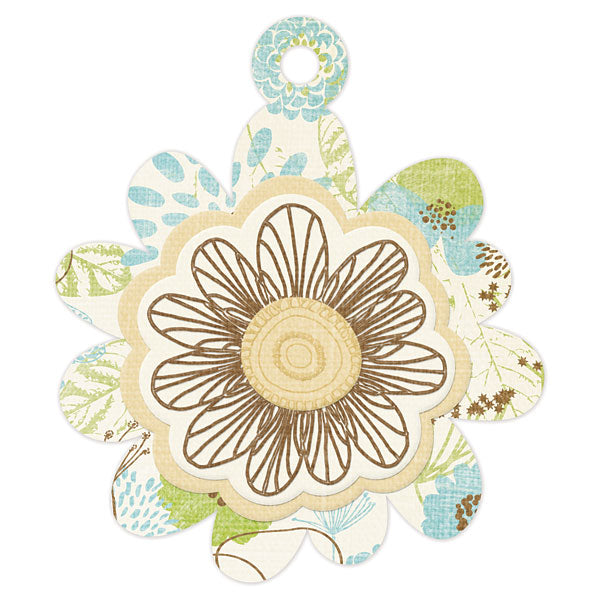 WRMK  Embossed Tags Spring Flower
