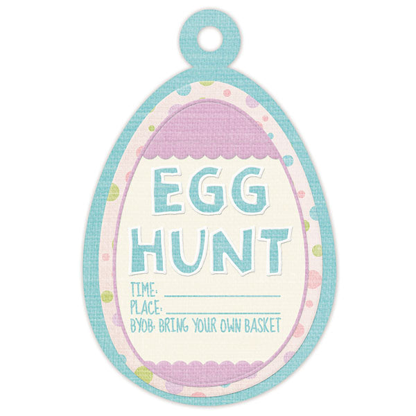 WRMK Cottontail Embossed Tags Egg Hunt
