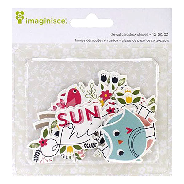 Imaginisce Die Cut Cardstock Shapes Welcome Spring