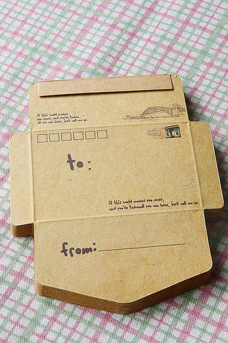 ECO Brown Kraft - DIY Craft Paper Envelope - Travel