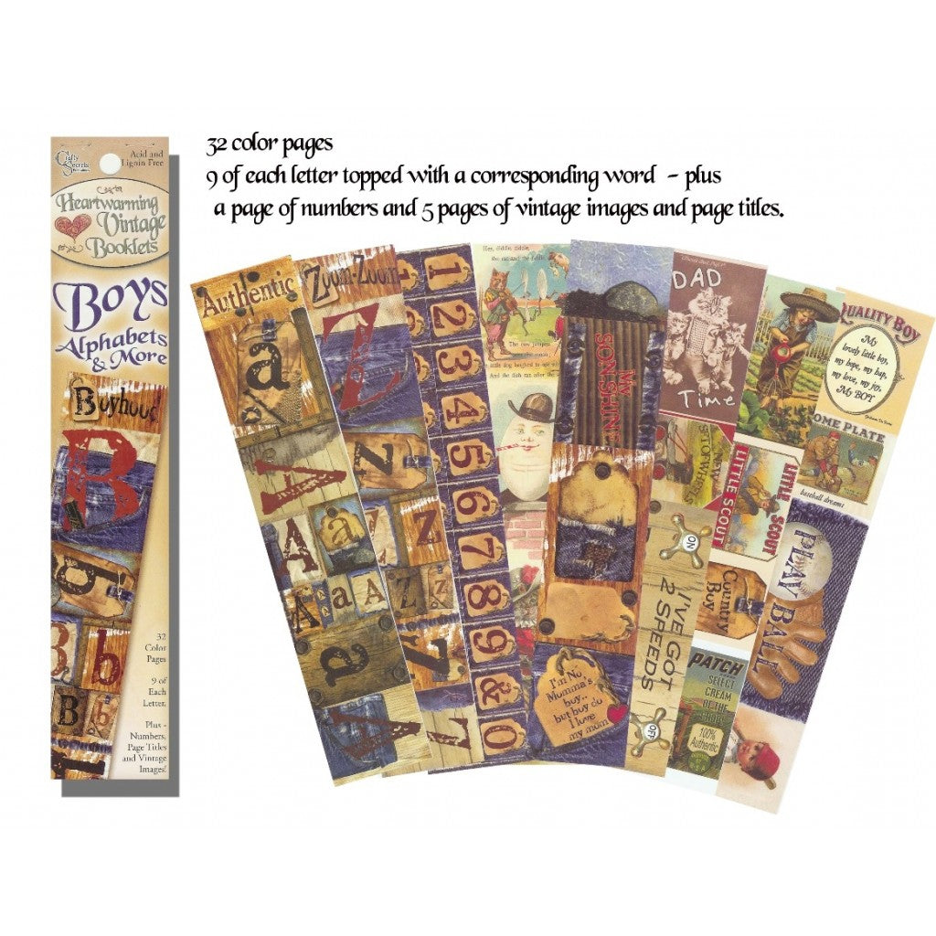 Crafty Secrets - Boys Alphabets & More - Scrap Of Your Life