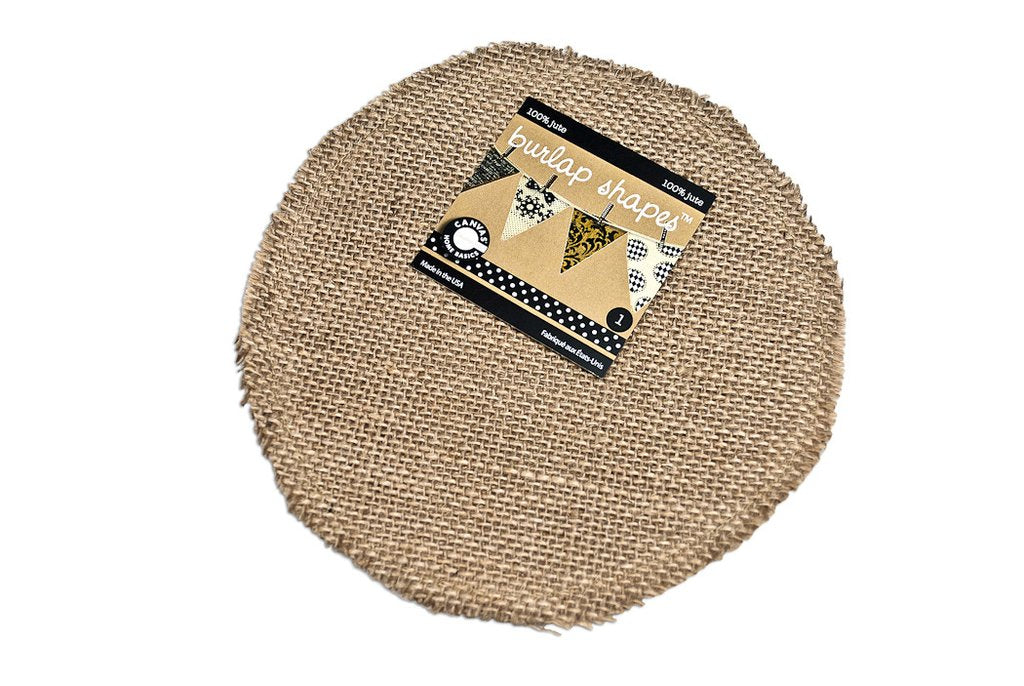 Canvas Corp Burlap Shape - Round