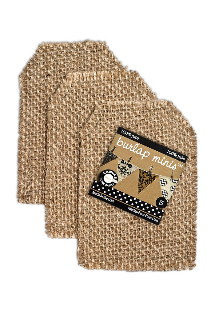 Canvas Corp Burlap Mini Shape - Tag ( 3 pieces) - Scrap Of Your Life