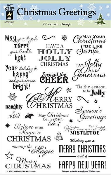 HOTP Acrylic Stamp Set Christmas Greeting - Scrap Of Your Life