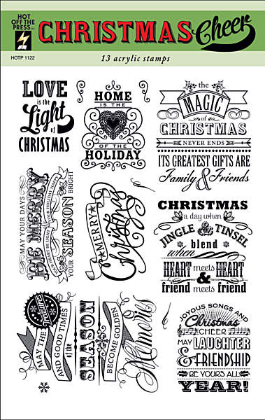 HOTP Acrylic Stamp Set Christmas Cheer - Scrap Of Your Life