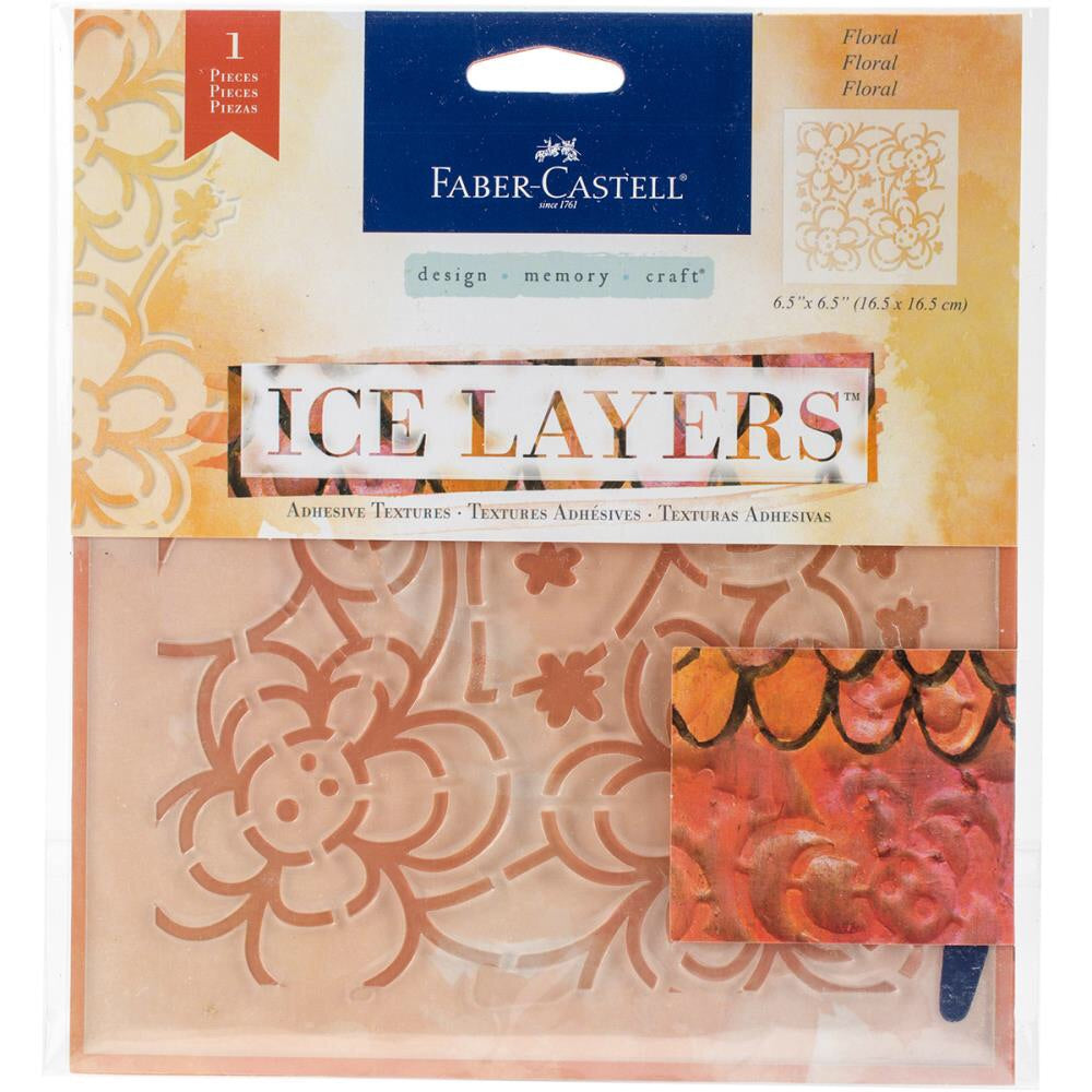Faber Castell Ice Layers Stencil Floral - Scrap Of Your Life