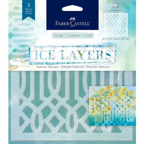 Faber Castell Ice Layers Stencil Lattice - Scrap Of Your Life