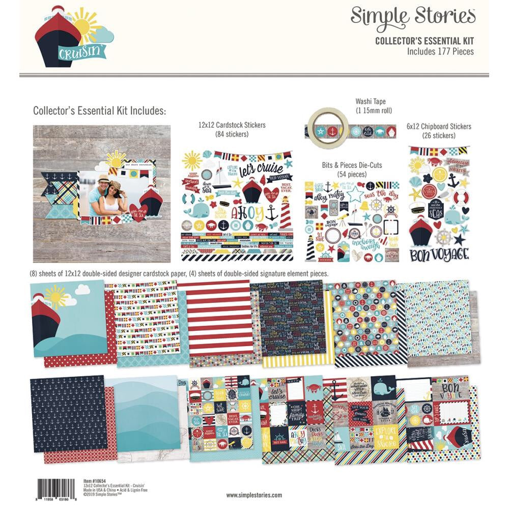 Simple Stories Cruisin Essentials Kit - Scrap Of Your Life