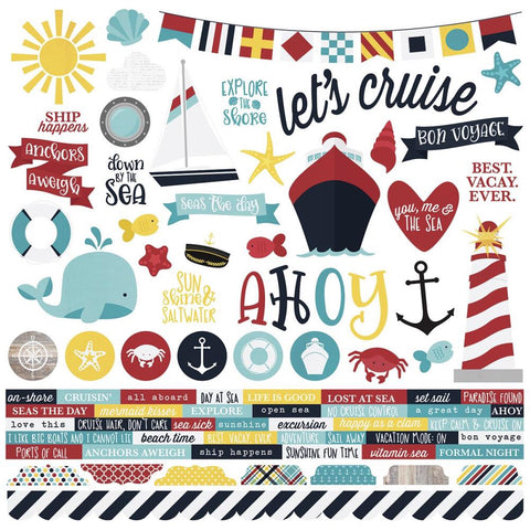 "Simple Stories - Cruisin' - Combo Stickers 12"" x 12"" - Scrap Of Your Life"