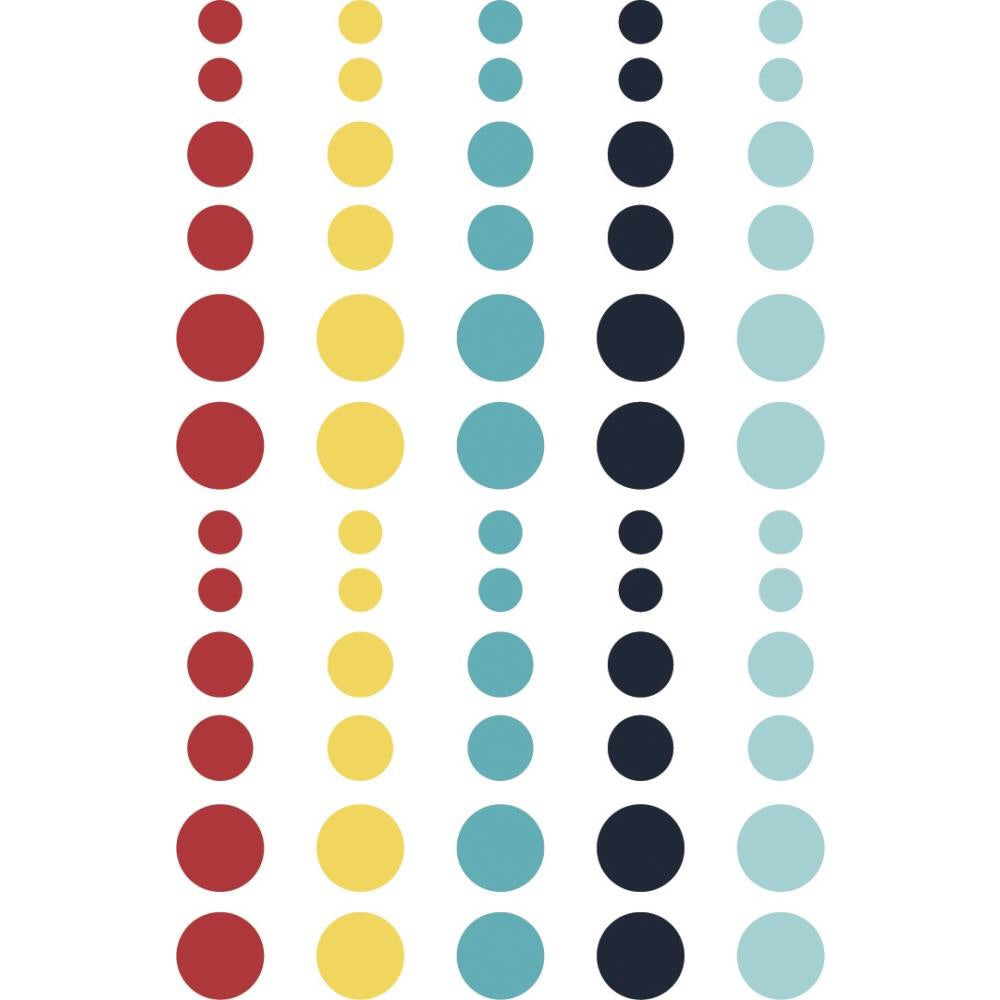 Simple Stories Cruisin' Enamel Dots Embellishments 60/Pkg - Scrap Of Your Life