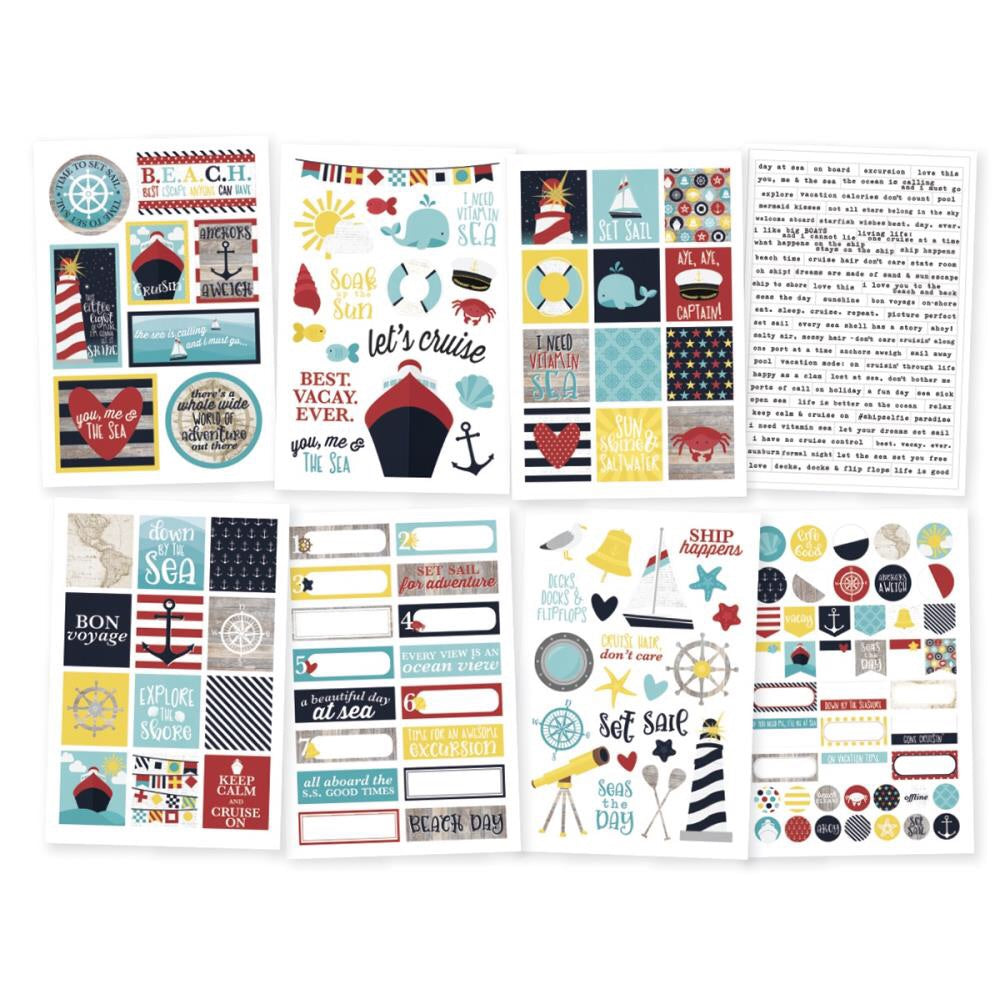 "Simple Stories Cruisin' Stickers 4""X6"" 8/Pkg - Scrap Of Your Life"