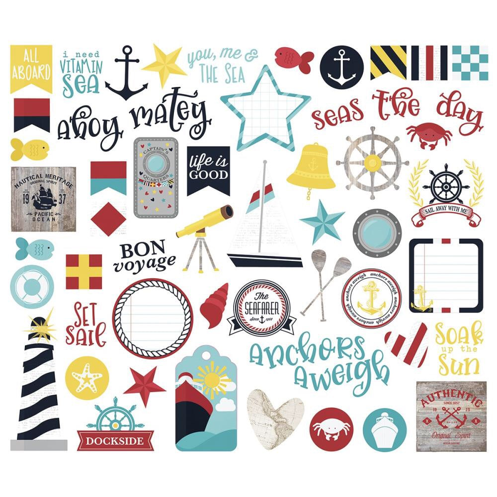 Simple Stories Cruisin' Bits & Pieces Die-Cuts - Scrap Of Your Life