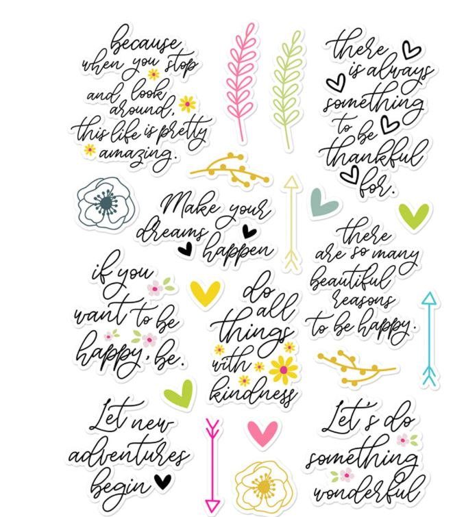 Pretty Little Studio Sweet Life -  Life is Beautiful Diecuts - Scrap Of Your Life