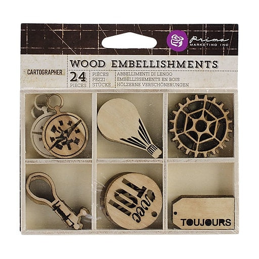 Prima Wood Embellishments Cartographer
