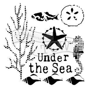 The Crafters Workshop 12 x 12 Stencil Under the Sea